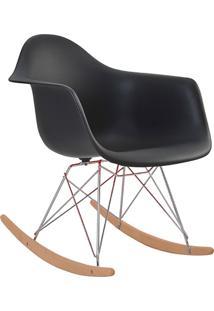 Cadeira De Balanço Com Braço Pp Eiffel -Rivatti - Preto
