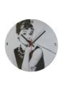 Relógio Em Vinil Audrey Hepburn