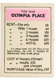 Olympia Le-Tan Bolsa Clutch 'Olympia Place' - Neutro