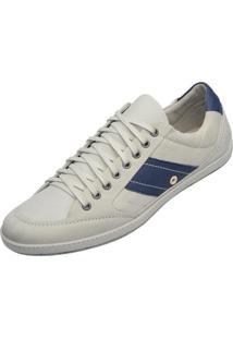 Sapatenis Jacometti Casual Off White E Jeans