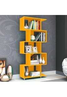 Estante Para Livros Esm 209 Amarelo - Móvel Bento