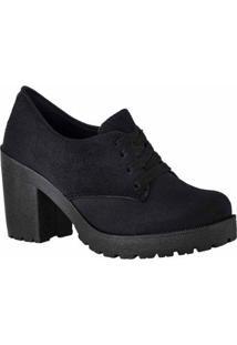 Oxford D&R Shoes Tratorada Feminina - Feminino-Preto