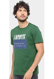 Camiseta Lacoste Fancy Regular Fit Masculina - Masculino