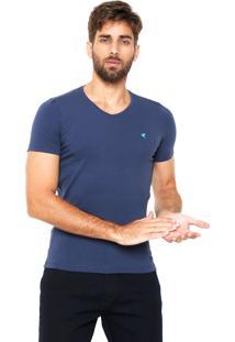 Camiseta Malwee Gola V Azul