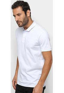 Camisa Polo Ellus Piquet Classic Masculina - Masculino-Branco