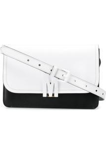 Moschino Bolsa Transversal Bicolor M - Preto