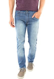 Calça Jeans Mr. Kitsch Reta Samesun Azul