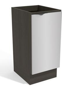 Balcão De Cozinha 40 Cm Nox 1 Porta Onix/Steel - Kappesberg