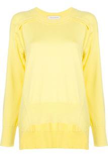 Cédric Charlier Suéter Com Bainha Assimétrica - Amarelo