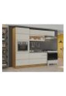 Cozinha Compacta Inova 7 Pt 5 Gv Off White E Freijó