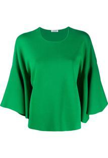 P.A.R.O.S.H. Suéter Mangas Com Cava Baixa - Verde
