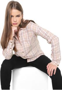 Camisa Vans Brimms Flannel Rosa/Branca