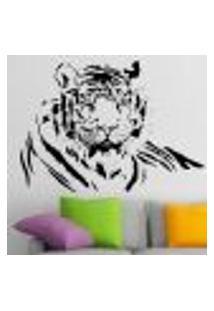 Adesivo De Parede Animais Tigre 04 - P 35X48Cm