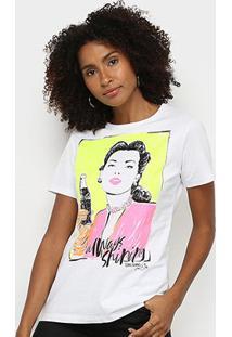 Camiseta Coca Cola Always Shiping Feminina - Feminino-Branco