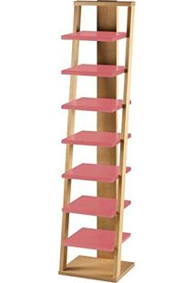 Estante Prateleira Suspensa Stairway Maxima Palha/Rosa New