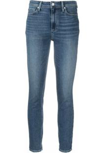 Paige Calça Jeans Skinny Hoxton Cintura Média - Azul