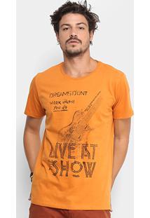 Camiseta Coca-Cola Musical Masculina - Masculino-Laranja