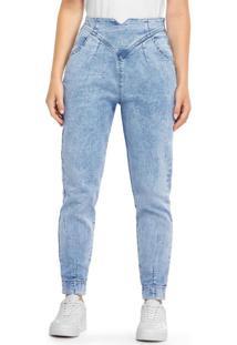 Calça Azul Claro Mom Jeans
