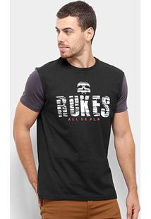 Camiseta Bicolor Rukes Rajado Masculina - Masculino