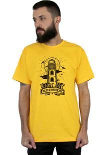 Camiseta Bleed American Lighthouse Amarela