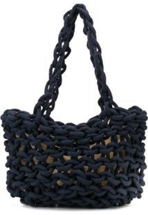 Alienina Mila Woven Tote Bag - Azul
