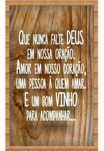 Quadro Art Frame Porta Rolhas De Vinho Decorativo Que Nunca Falte Deus E Um Bom Vinho Moldura Em Madeira
