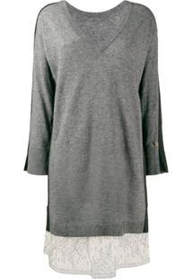 Twin-Set Vestido De Lurex - Cinza