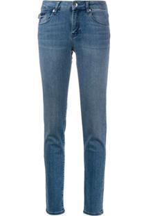 Love Moschino Calça Jeans Skinny Cintura Baixa - Azul