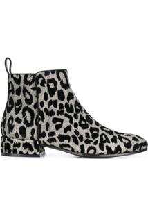 Dolce & Gabbana Ankle Boot Leopardo - Metálico