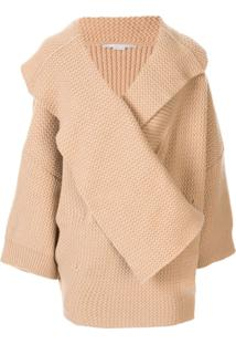 Stella Mccartney Cardigan Oversized De Tricô - Marrom