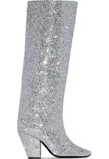 Simon Miller Bota 100 Com Efeito De Glitter - Prateado