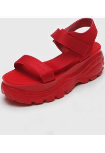 Sandália Flatform Zatz Charme Vermelha