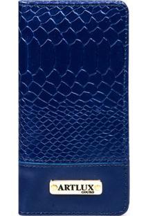 Carteira Feminina Escamas - Feminino-Azul