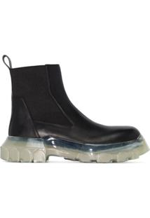 Rick Owens Ankle Boot Beetle - Preto
