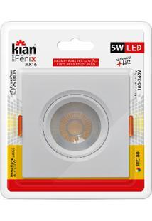 Luminária Spot Kian Mr16 Quadrado Led Fênix Ii Alt: 4,5Cm Comp.: 9,5Cm Larg: 9,5Cm 5W 3000K Amarela.