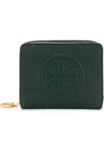 Tory Burch Carteira Com Logo Gravado - Verde