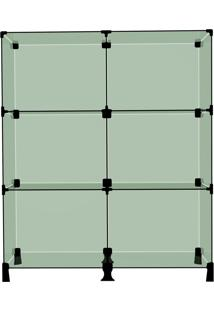 Balcão De Vidro Modulado Para Loja 80 Cm Com 6 Nichos Nissan