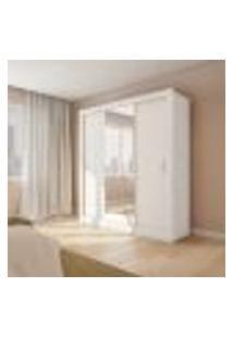 Guarda-Roupa Casal Com Espelho Aracatu 3 Pt 4 Gv Branco