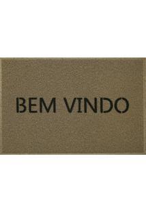 Capacho Vinil Bem Vindo Light 40X60 Cm - Kapazi - Bege