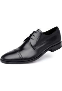 Derby Jacometti Cap Toe Preto 67075