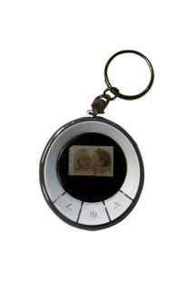 Porta-Retratos Digital D-Concepts Com Lcd De 1.1 Polegadas E Relógio Em Formato De Chaveiro Cinza