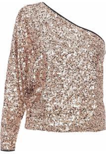 Blusa Feminina Paete - Dourado
