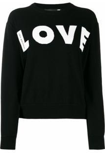 Love Moschino Suéter Love - Preto