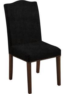 Cadeira De Jantar Silvia Veludo Chumbo