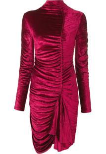 Kenzo Vestido Gola Alta Canelado - Rosa