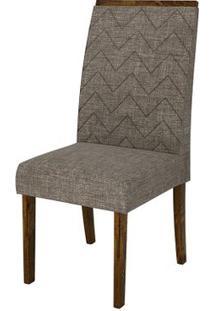 Cadeira Áurea 2 Peças - Rústico Malbec Com Linho Bronze
