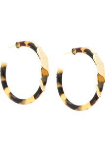 Gas Bijoux Cobra Hoop Earrings - Marrom