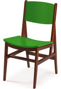 Cadeira Dumon Cor Cacau Com Verde - 30795 - Sun House