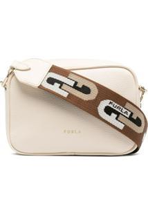 Furla Logo-Strap Crossbody Bag - Neutro