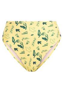 Calcinha Hot Pants Cavada - Amarelo